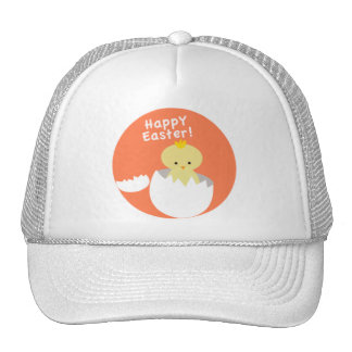 Chick Hatching Happy Easter Trucker Hat