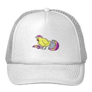 chick hatching purple yellow egg trucker hat