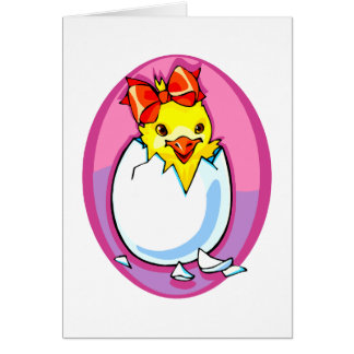chick hatching red ribbon purple oval.png card