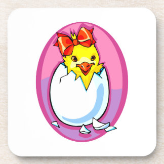 chick hatching red ribbon purple oval.png coaster
