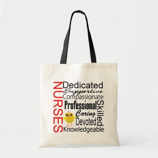 Chick Humor - Nurses Recognition Collage Bag