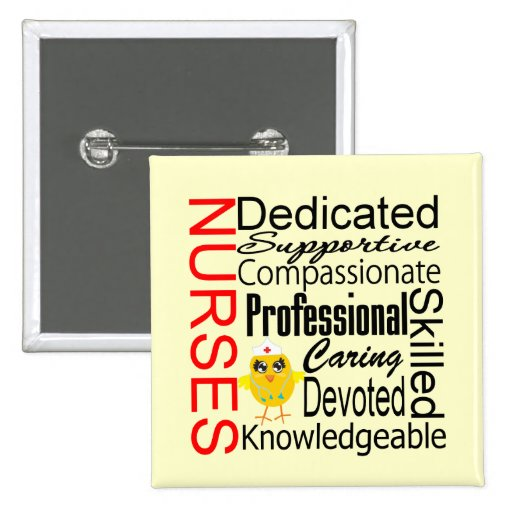 Chick Humor - Nurses Recognition Collage Buttons