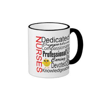 Chick Humor - Nurses Recognition Collage Ringer Mug