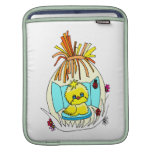 chick in easter wrapped basket ladybugs sleeve for iPads