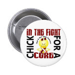 Chick In The Fight Head And Neck Cancer Pinback Button