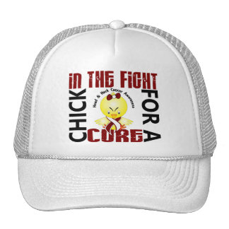 Chick In The Fight Head And Neck Cancer Hats