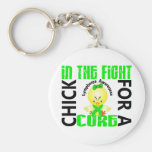 Chick In The Fight Lymphoma Keychain