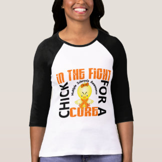 Chick In The Fight Multiple Sclerosis MS Tee Shirt
