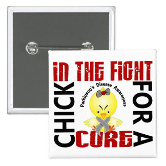 Chick In The Fight Parkinson's Disease Pinback Button
