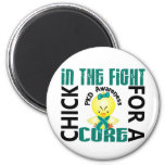 Chick In The Fight PKD 2 Inch Round Magnet