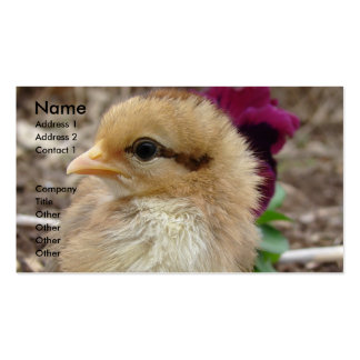 Chick in the Garden Double-Sided Standard Business Cards (Pack Of 100)