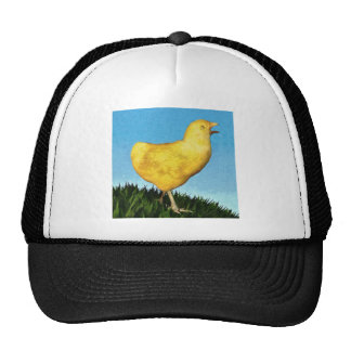 Chick in the Grass Trucker Hat