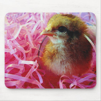 Chick in Wine Glass Mouse Pad