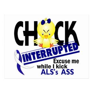 Chick Interrupted 2 ALS Postcard