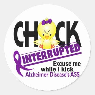 Chick Interrupted 2 Alzheimer's Disease Classic Round Sticker