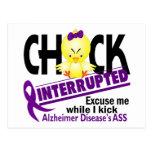 Chick Interrupted 2 Alzheimer's Disease Post Card