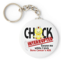 Chick Interrupted 2 Bone Cancer Keychain