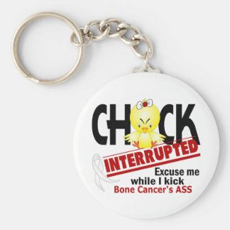 Chick Interrupted 2 Bone Cancer Key Chain