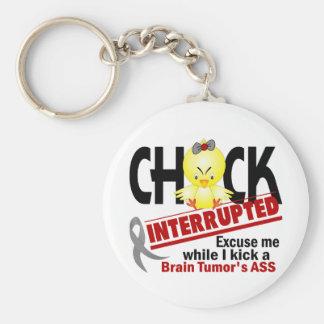 Chick Interrupted 2 Brain Tumor Keychain