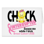Chick Interrupted 2 Breast Cancer Card