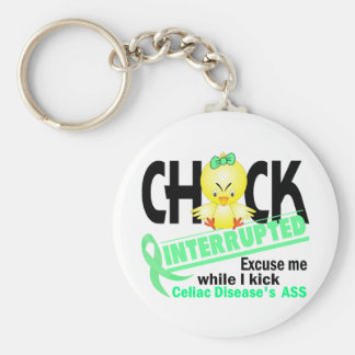 Chick Interrupted 2 Celiac Disease Keychain