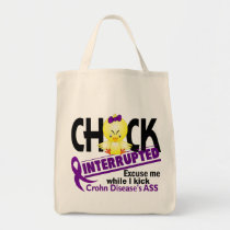 Chick Interrupted 2 Crohn's Disease Tote Bag