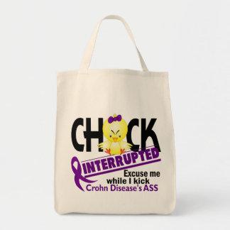 Chick Interrupted 2 Crohn's Disease Tote Bag