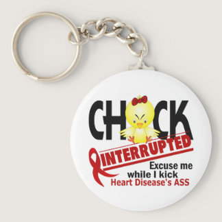 Chick Interrupted 2 Heart Disease Keychain