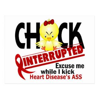 Chick Interrupted 2 Heart Disease Postcard