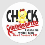 Chick Interrupted 2 Heart Disease Classic Round Sticker