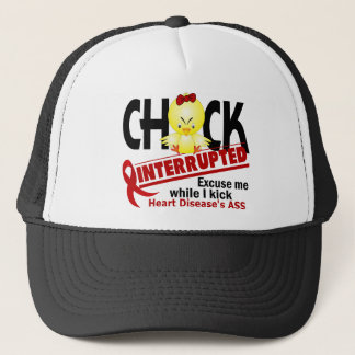 Chick Interrupted 2 Heart Disease Trucker Hat