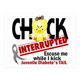 Chick Interrupted 2 Juvenile Diabetes Postcard