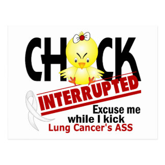 Chick Interrupted 2 Lung Cancer Postcard