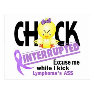 Chick Interrupted 2 Lymphoma (Violet) Postcard