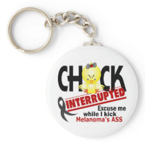 Chick Interrupted 2 Melanoma Keychain
