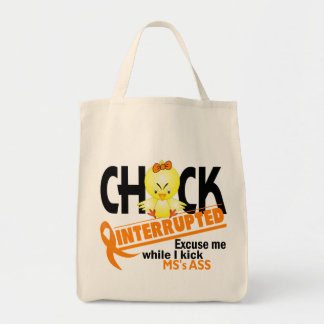 Chick Interrupted 2 MS Tote Bag