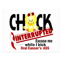 Chick Interrupted 2 Oral Cancer Postcard