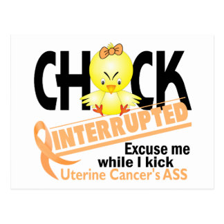 Chick Interrupted 2 Uterine Cancer Postcard