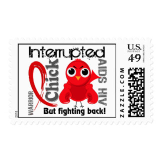 Chick Interrupted 3 AIDS Postage Stamp