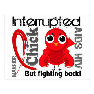 Chick Interrupted 3 AIDS Post Cards