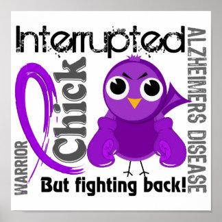 Chick Interrupted 3 Alzheimer's Disease Print
