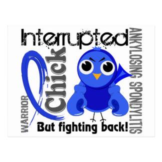 Chick Interrupted 3 Ankylosing Spondylitis Postcard