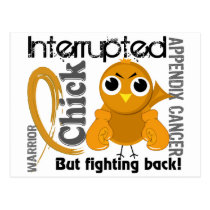 Chick Interrupted 3 Appendix Cancer Postcard