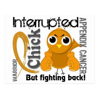 Chick Interrupted 3 Appendix Cancer Postcard