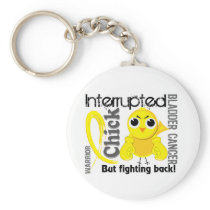 Chick Interrupted 3 Bladder Cancer Keychain