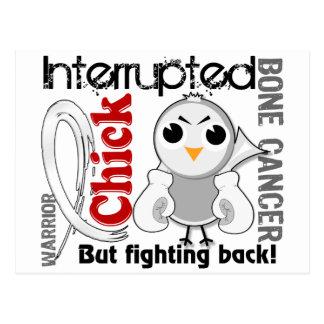 Chick Interrupted 3 Bone Cancer Postcard