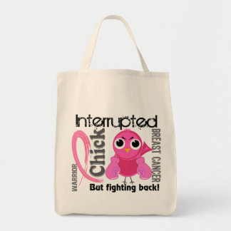 Chick Interrupted 3 Breast Cancer Bags