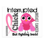Chick Interrupted 3 Breast Cancer Post Card
