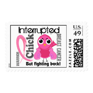 Chick Interrupted 3 Breast Cancer Stamps