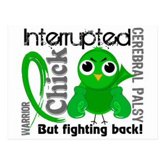 Chick Interrupted 3 Cerebral Palsy Postcard